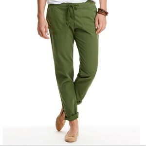 vineyard vines forest green cotton pants